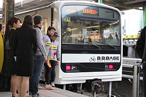 B.B.BASE JR東日本 輪行 サイクリスト 両国