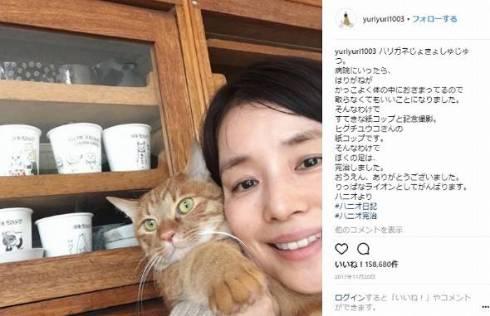 石田ゆり子 ハニオ タビ 猫 ペット 監視カメラ インスタ