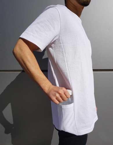 手ぶら Tシャツ TE-BR ティーブラ ポケット パッカブル クラウドファンディング