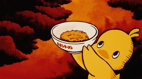 チキンラーメンのひよこちゃん、グレてアクマに変身 「クエエエエエエェ!!!」っと絶叫し地球を破壊するCMも公開