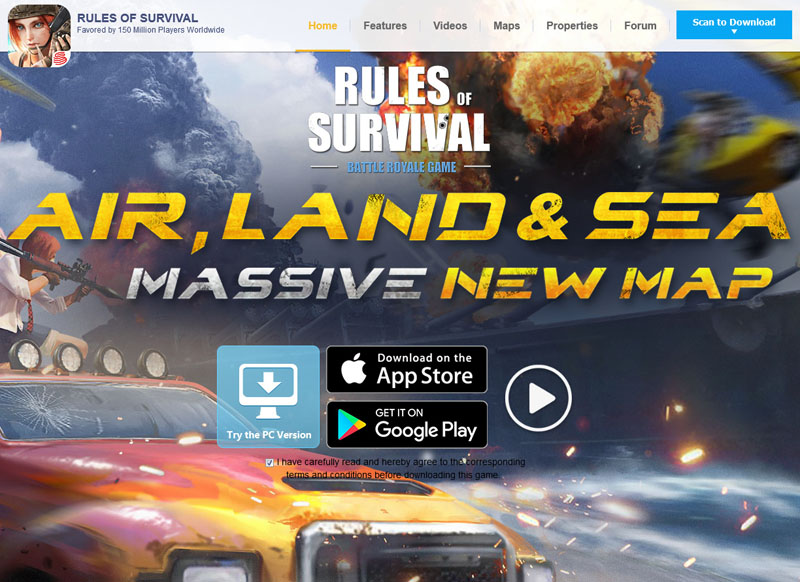 「Rules of Survival」公式サイト