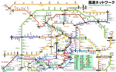 JR東日本風高速道路マップ