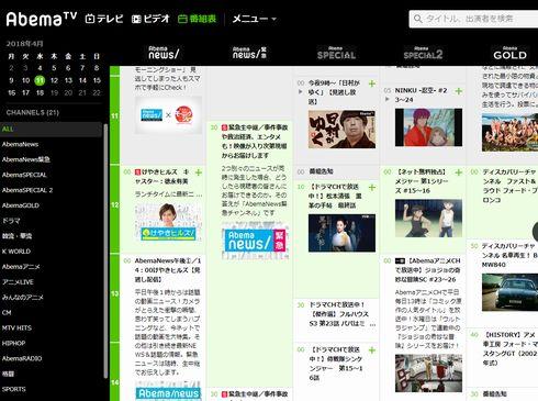 AbemaTV ダウンロード 機能