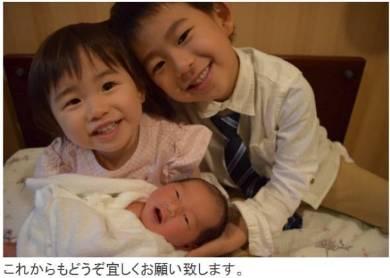 東尾理子 出産 すみれ 兄弟 姉妹 つむぎ 名前 高齢出産 理汰郎 青葉 息子 娘