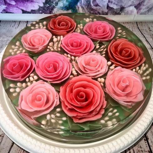 JellyAlchemy フラワーゼリー アートケーキ