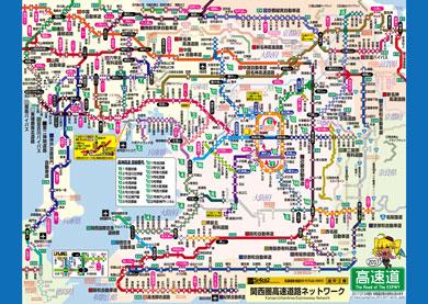 関西版高速道路地図
