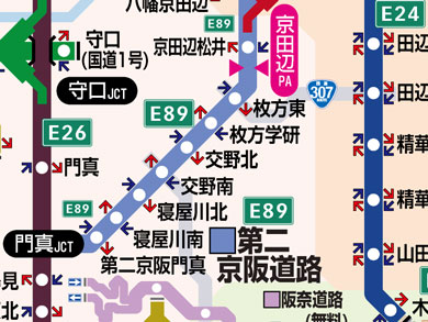 第二京阪あたりの地図