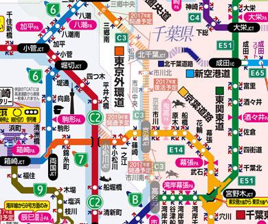 外環道の地図