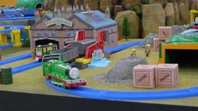 機関車が通る
