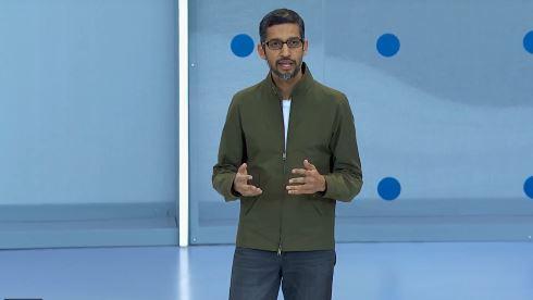 google i/o android emoji ハンバーガー チーズ ビール サンダー・ピチャイ