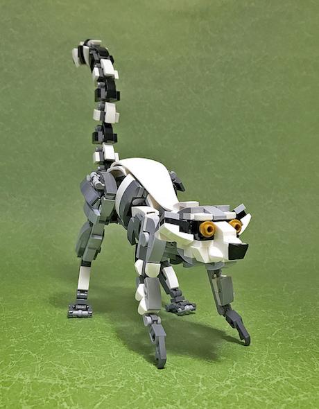 レゴ作品「ワオキツネザル」
