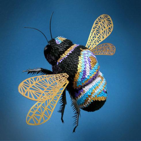 LisaLloyd ペーパークラフト ハチ