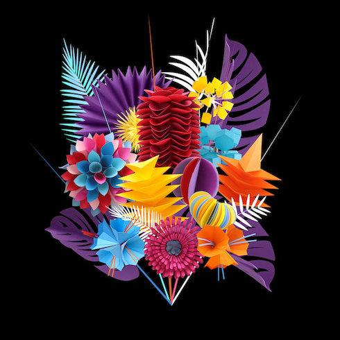 LisaLloyd ペーパークラフト 花束