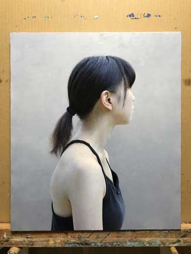 油絵 人物画 女性 リアル 三重野慶