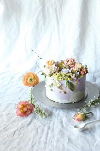 Ateliersoo バタークリームケーキ アートケーキ