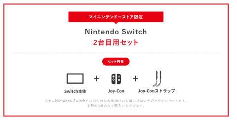 Nintendo Switch 2台目用セット