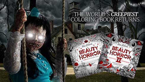グロテスク 怖い ぬり絵 Beauty of Horror