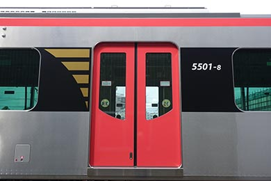 都営浅草線 5500形 地下鉄 歌舞伎 隈取