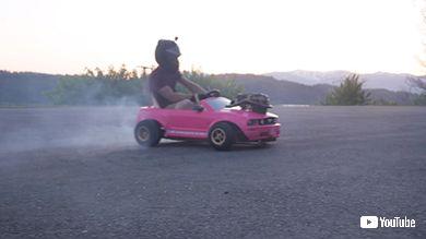 おもちゃ キッズカー 魔改造 マスタング 自動車