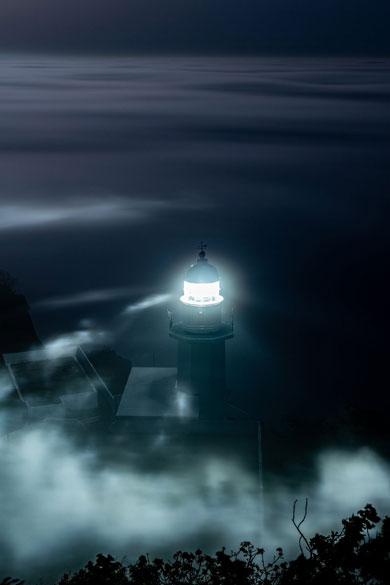 室蘭 写真 景色 地球岬 灯台 海霧 雲海