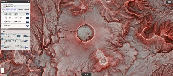 地図 赤色立体地図 国土地理院