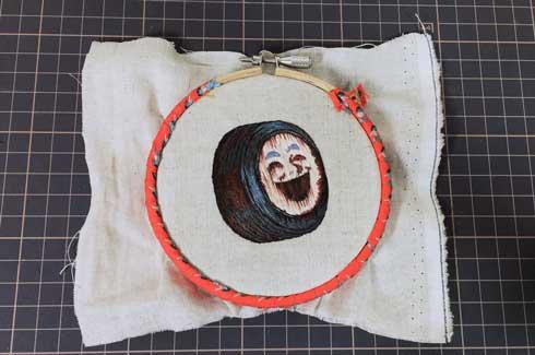 錆びた ヨコハマタイヤ 刺繍 再現