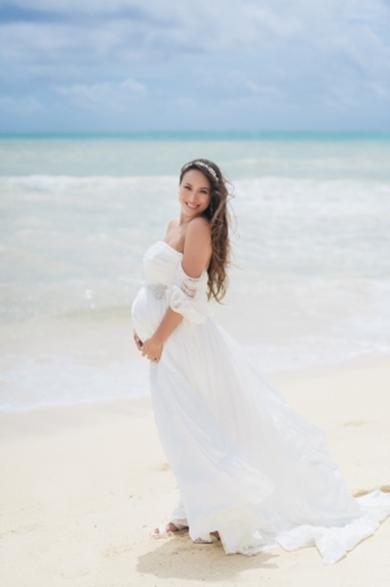 道端アンジェリカ 結婚式 ハワイ 道端カレン 妊婦 マタニティウエディング