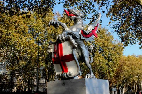 シティ・オブ・ロンドンのドラゴン像