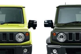 新型「ジムニー」(左)と「ジムニーシエラ」(右)