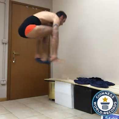 30秒間 パンツを穿く ギネス世界記録 更新 Silvio Sabba