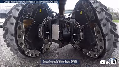 DARPA キャラピラ 無限軌道 タイヤ 可変 変形