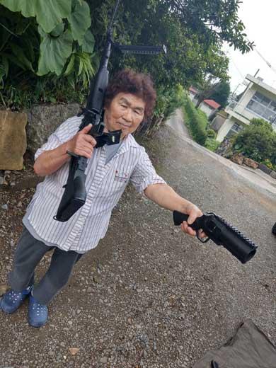 宮崎県 日向市 サバイバルゲームフィールド 喜三郎 オーナー サチエさん Twitter ばあちゃん