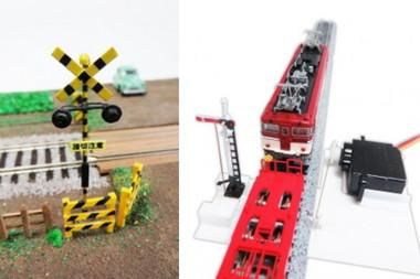 鉄道模型の信号機や踏切を自在に動かせます