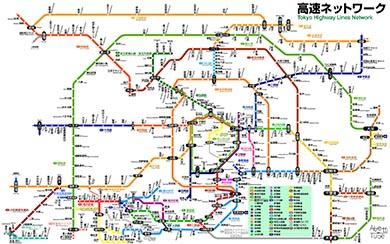 JR路線図ふう高速道路マップ