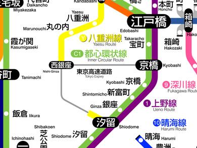 あべっち JR路線図ふう高速道路マップ 東京高速道路
