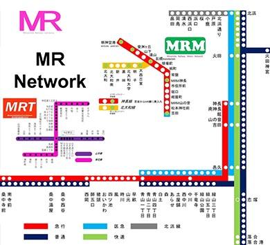 南田妄想鉄道 MR路線図