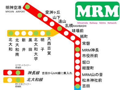 南田妄想鉄道 MR 路線図 地下鉄 MRM
