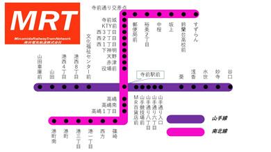南田妄想鉄道 MR 路線図 地下鉄 MRT