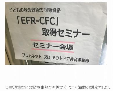チャンカワイ 娘 チャン子 EFR-CFC 国際資格 応急処置 子ども