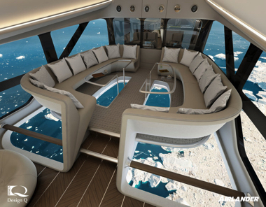 AIRLANDER10 飛行船 客室 インテリア