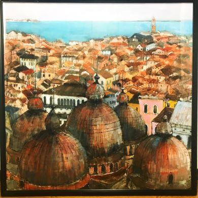 おばあちゃん ヴェネツィア 絵 ヨーロッパ