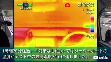 車内 放置 温度 実験 爆発