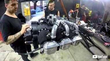 バイク 水平対向 300馬力 エンジン リング SF