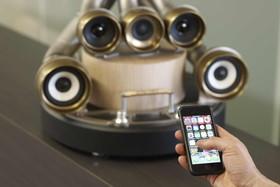 カッコイイ エキゾーストパイプ iPhoneスピーカー
