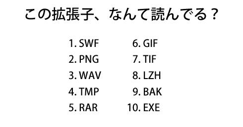 SWF」「PNG」「WAV」 読みにくい...