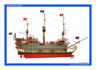 小田急 箱根 大型投資 海賊船 水戸岡鋭治 側面図