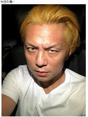 的場浩司 金髪 スイーツ カラーコンタクト 金色 こわもて