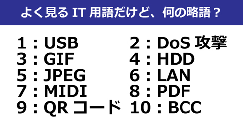 USB」「JPEG」「QRコード」 身近...