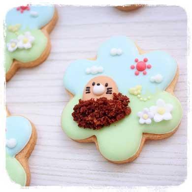 アイシングクッキー 妹 金魚鉢 飴細工 かわいい