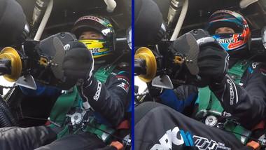 SUPER GTでは2人のドライバーが交代で走ります